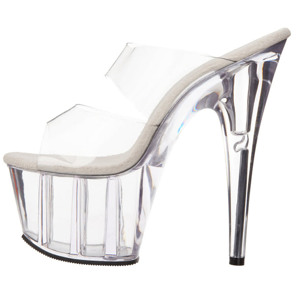 PLEASER ADORE-702 Clear Stiletto Slides - Shoecup.com - 5