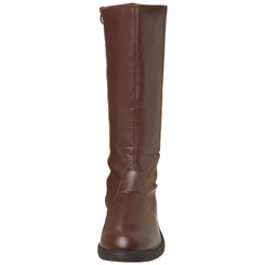 Men's Brown Pu Knee High Super Hero Boots - Shoecup.com - 2