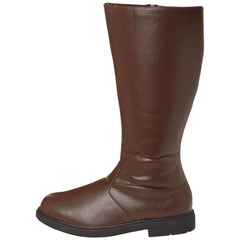 Men's Brown Pu Knee High Super Hero Boots - Shoecup.com - 4
