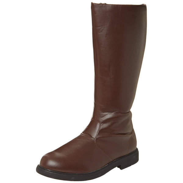 Men's Brown Pu Knee High Super Hero Boots - Shoecup.com - 1