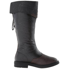 CAPTAIN-110 Men's Black-Brown Distressed Pu Pirate Boots - Shoecup.com - 3