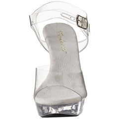 FABULICIOUS COCKTAIL-508 Clear-Clear Ankle Strap Sandals - Shoecup.com - 3