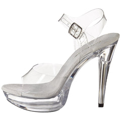 FABULICIOUS COCKTAIL-508 Clear-Clear Ankle Strap Sandals - Shoecup.com - 5