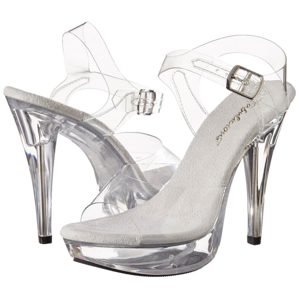 FABULICIOUS COCKTAIL-508 Clear-Clear Ankle Strap Sandals - Shoecup.com - 1