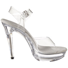 FABULICIOUS COCKTAIL-508 Clear-Clear Ankle Strap Sandals - Shoecup.com - 6