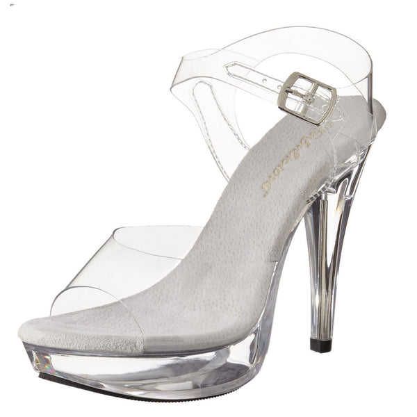 FABULICIOUS COCKTAIL-508 Clear-Clear Ankle Strap Sandals - Shoecup.com - 2