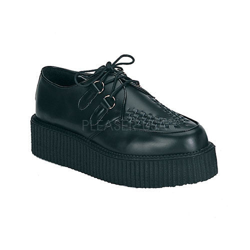 Demonia,DEMONIA CREEPER-402 Men's Black Leather Creepers - Shoecup.com