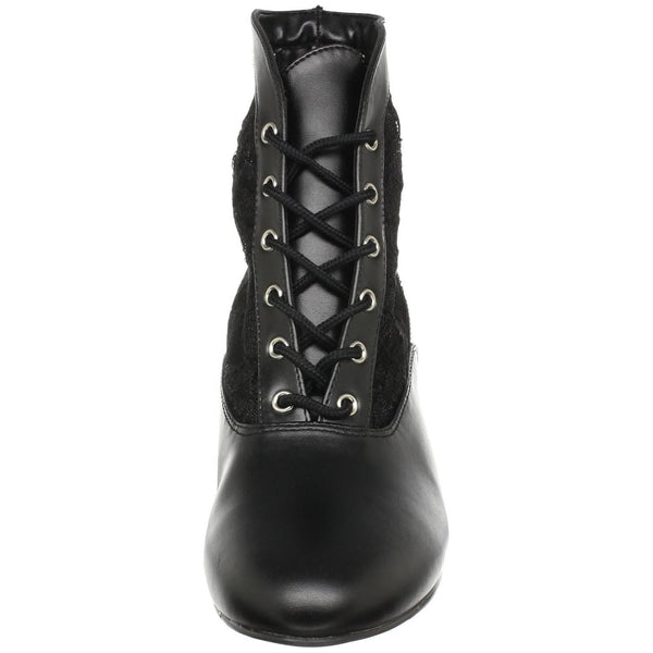 FUNTASMA DAME-05 Black Victorian Granny Boots With Lace Accent - Shoecup.com - 3
