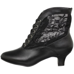 FUNTASMA DAME-05 Black Victorian Granny Boots With Lace Accent - Shoecup.com - 5