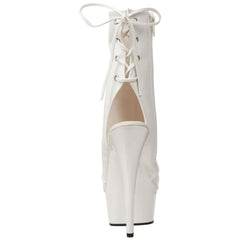 PLEASER DELIGHT-1018 White Pu Ankle Boots - Shoecup.com - 3