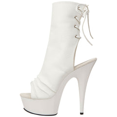 PLEASER DELIGHT-1018 White Pu Ankle Boots - Shoecup.com - 4