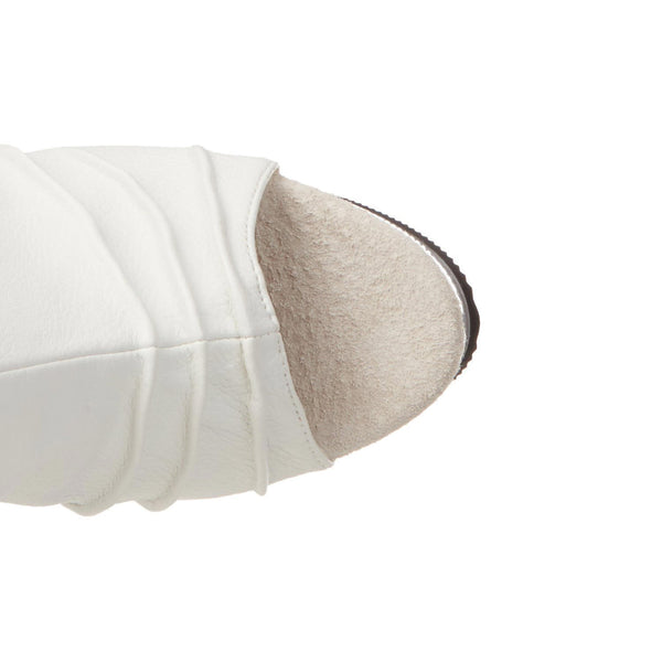 PLEASER DELIGHT-1018 White Pu Ankle Boots - Shoecup.com - 6