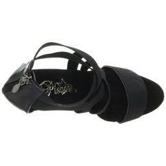 PLEASER DELIGHT-669 Black Elasticated Band-Black Sandals - Shoecup.com - 6
