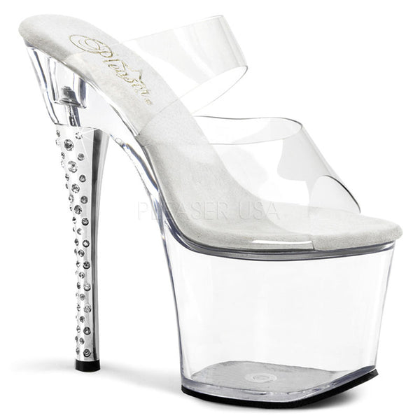 PLEASER DIAMOND-702 Clear Slides - Shoecup.com