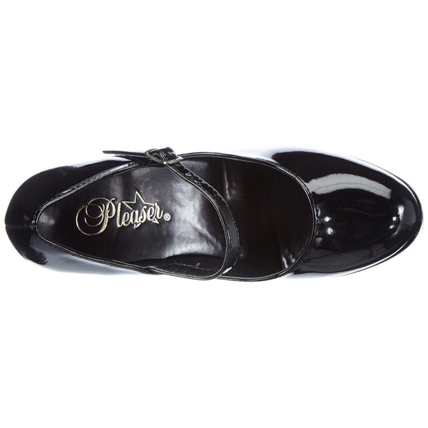 Demonia,DEMONIA DOLLY-50 Black Pat Mary Jane Pumps - Shoecup.com