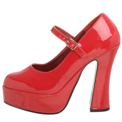 DEMONIA DOLLY-50 Red Pat Mary Jane Pumps - Shoecup.com - 4