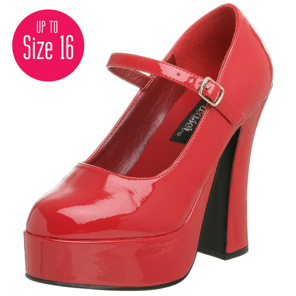 Demonia,DEMONIA DOLLY-50 Red Pat Mary Jane Pumps - Shoecup.com