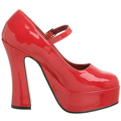 DEMONIA DOLLY-50 Red Pat Mary Jane Pumps - Shoecup.com - 5