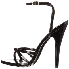 DEVIOUS DOMINA-108 Black Pat Ankle Strap Sandals - Shoecup.com - 2