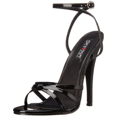 DEVIOUS DOMINA-108 Black Pat Ankle Strap Sandals - Shoecup.com - 3