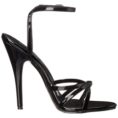 DEVIOUS DOMINA-108 Black Pat Ankle Strap Sandals - Shoecup.com - 4