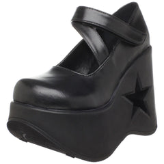 Demonia,DEMONIA DYNAMITE-03 Black Pu Mary Jane - Shoecup.com