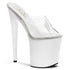 PLEASER FLAMINGO-801 Clear-White Platform Slides - Shoecup.com