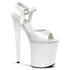 PLEASER FLAMINGO-809 White Ankle Strap Sandals - Shoecup.com - 1