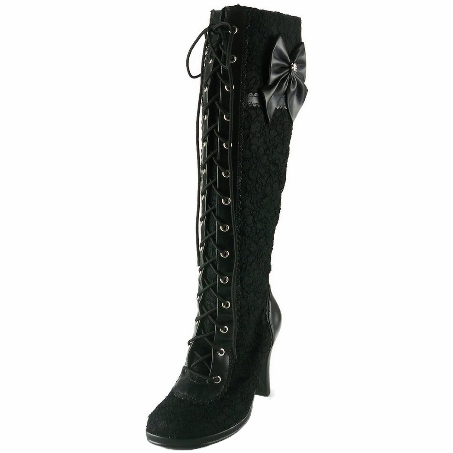 DEMONIA GLAM-240 Steampunk Lolita Cosplay Goth Victorian Boots - Shoecup.com - 1