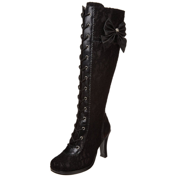 DEMONIA GLAM-240 Steampunk Lolita Cosplay Goth Victorian Boots - Shoecup.com - 5