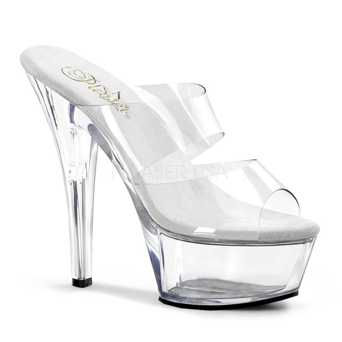 PLEASER KISS-202 Clear Platform Sandals - Shoecup.com - 1