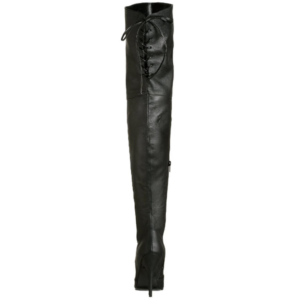 PLEASER LEGEND-8899 Black Leather Thigh High Boots - Shoecup.com - 5