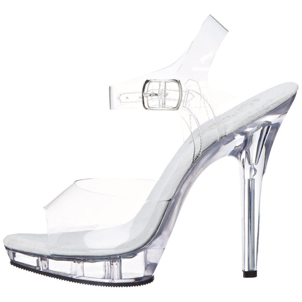 FABULICIOUS LIP-108 Clear-Clear Ankle Strap Sandals - Shoecup.com - 4