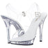 FABULICIOUS LIP-108 Clear-Clear Ankle Strap Sandals - Shoecup.com - 1