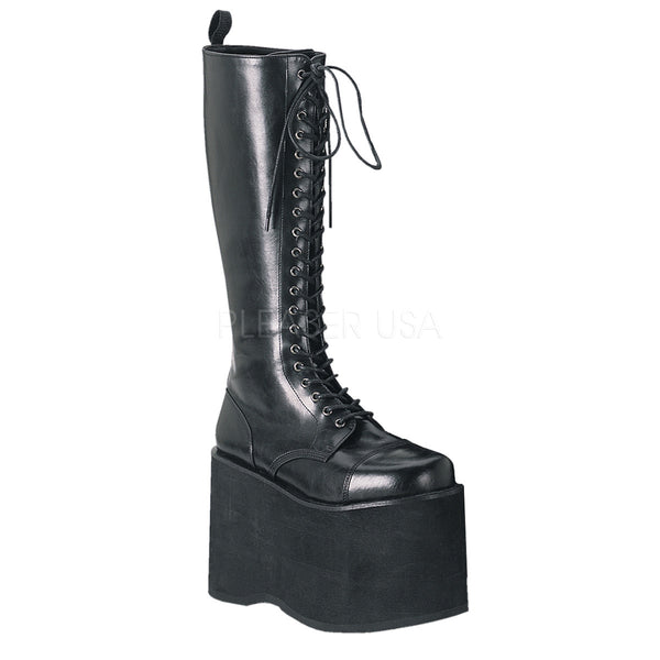 DEMONIA MEGA-602 Men's Black Pu Vegan Boots - Shoecup.com - 1