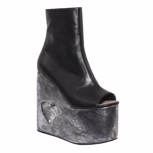 "6"" Heel METAL HEART Black"
