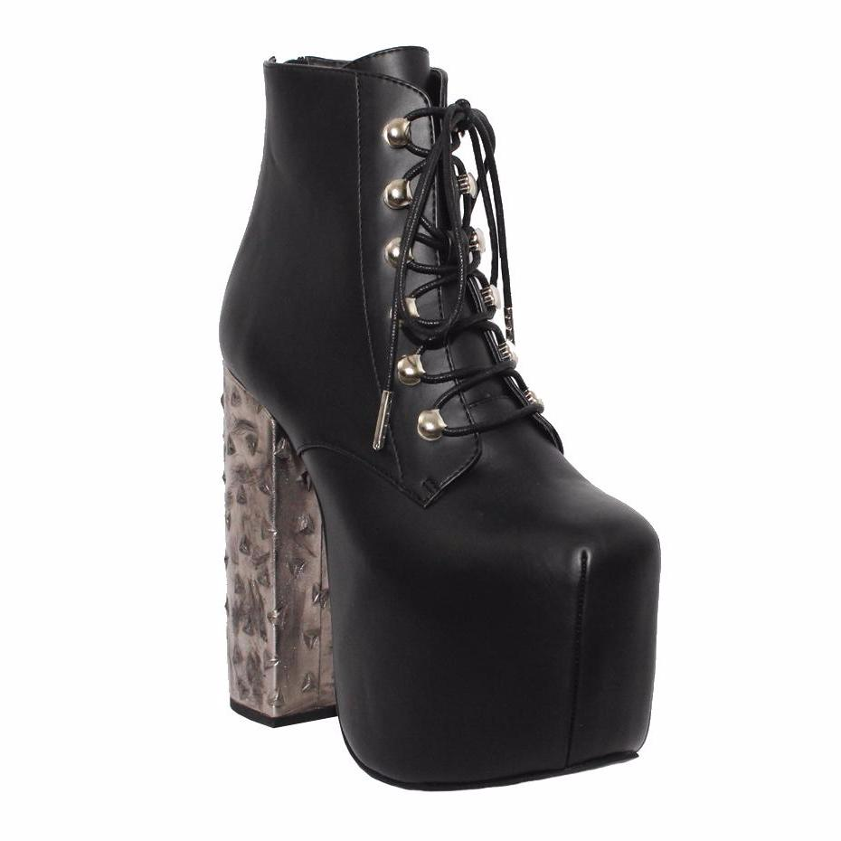 "6"" Heel MOTLEY METAL Black"