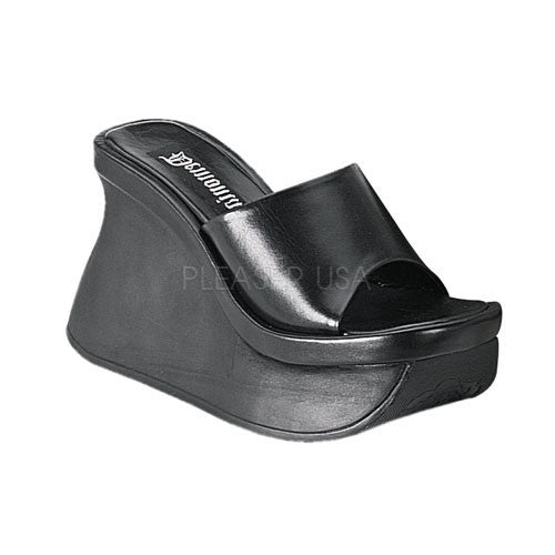 DEMONIA PACE-01 Black Pu Sandals - Shoecup.com - 1