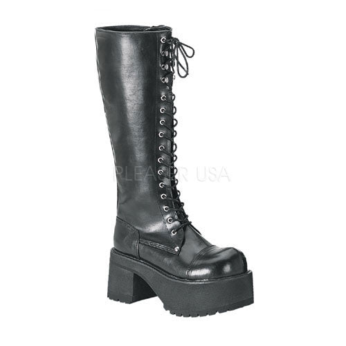 DEMONIA RANGER-302 Men's Black Pu Vegan Boots