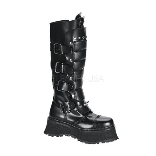 Demonia,DEMONIA RAVAGE-II Men's Black Leather Steel Toe Boots - Shoecup.com