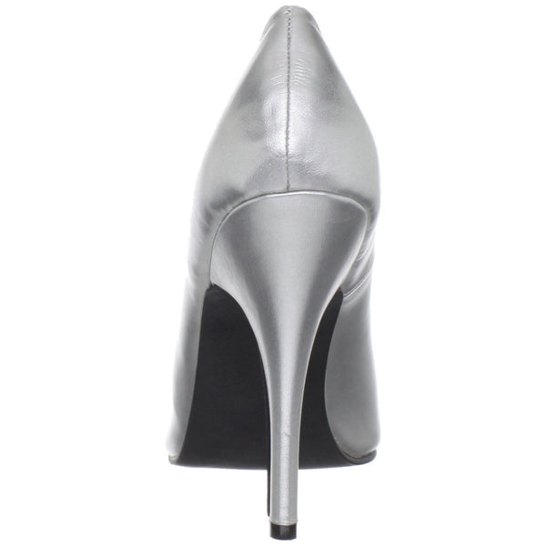 Pleaser SEDUCE-420 Silver Pu Classic Pumps - Shoecup.com - 3