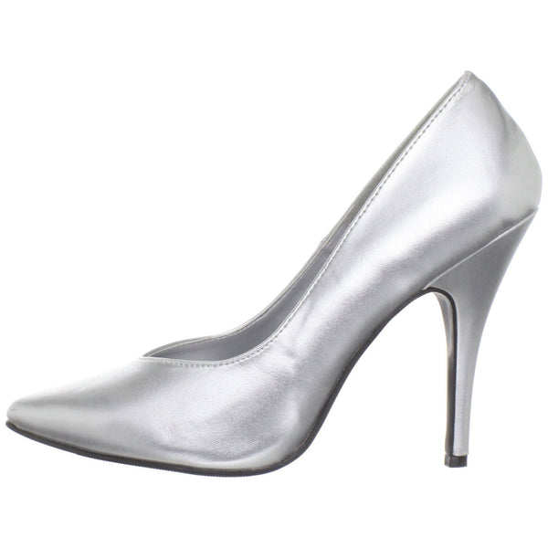 Pleaser SEDUCE-420 Silver Pu Classic Pumps - Shoecup.com - 4