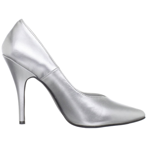 Pleaser SEDUCE-420 Silver Pu Classic Pumps - Shoecup.com - 5
