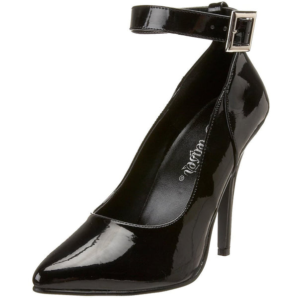 Pleaser SEDUCE-431 Black Patent Pumps - Shoecup.com - 1