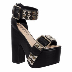 Charla Tedrick Sheena Black Platform Punk Shoes Main