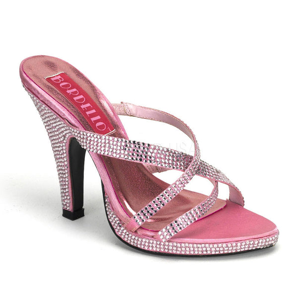 Bordello,Bordello SIREN-02R Baby Pink Rhinestones Slide - Shoecup.com