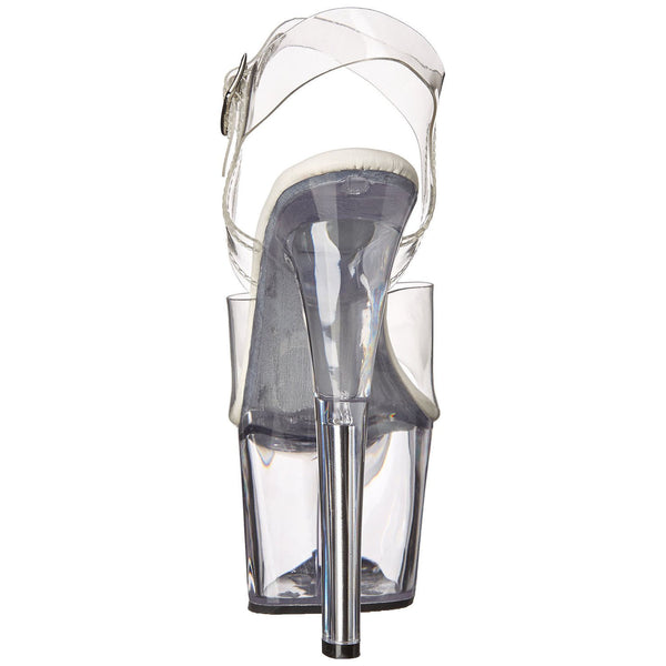 Pleaser SKY-308VL Clear Ankle Strap Sandals - Shoecup.com - 3