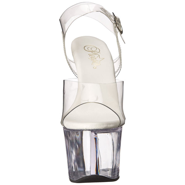 Pleaser SKY-308VL Clear Ankle Strap Sandals - Shoecup.com - 2