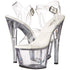 Pleaser SKY-308VL Clear Ankle Strap Sandals - Shoecup.com - 8