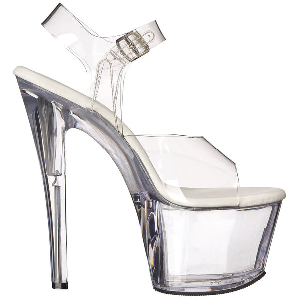 Pleaser SKY-308VL Clear Ankle Strap Sandals - Shoecup.com - 4